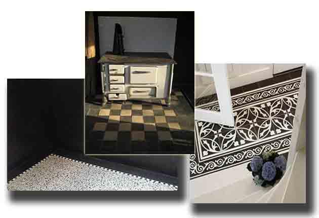 Grote Zwarte Tegels : Antieke plavuizen estrikken estriken natuursteen vloeren